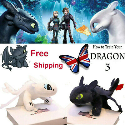 How to Train Your Dragon 3 Toothless Night Light Fury Plush Doll Toys Gift Soft