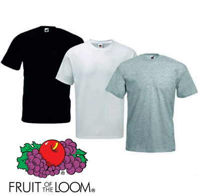 Fruit of the Loom TRIPACK T-Shirt Uomo Basic pack 3 magliette Color sport work