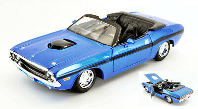 Dodge Challenger R//T Coupe 1970 Blau State Police Tuning 1//24 Maisto Modell Au..