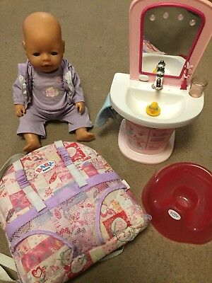 Zapf Baby Born bundle With interactive wash basin And Loads Of Accessories