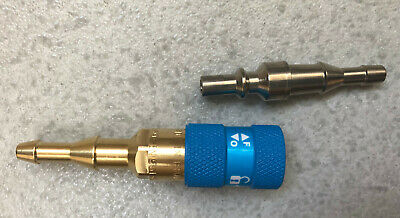 Plug Rapid Gas Oxygen with Valve Retaining Made in France