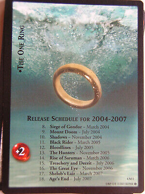 Lord Of The Rings Tcg Countdown Set Of 19 Promo Cards