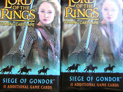 10 Boosters Siege Of Gondor Lord Of The Rings Tcg
