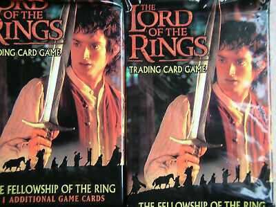 10 Boosters Fellowship Of The Ring Vo  Lord Of The Rings Tcg