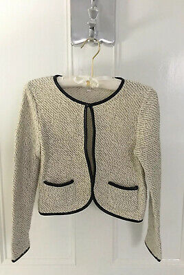 Girls STAR BY JULIENMACDONALD Bolero  Tweed And Faux Leather Jacket Age 9-10