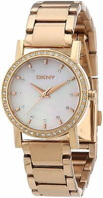 DKNY Women's SoHo NY8121 Mother of Pearl Dial Rose Gold Stainless Steel Watch
