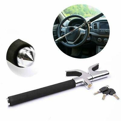 Extendable Heavy Duty Steering Wheel Lock With Emergency Glass Breaker + 2 Keys