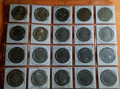 Casino Token & Chip Lot (20) Various Indian Reservations