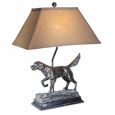Hunting Dog Lamp English Irish Setter Retriever Rustic Cabin Lodge Decor L7082AZ