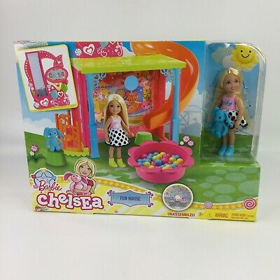 Barbie Club Chelsea Clubhouse Fun House W/ Doll, DVD & ACCESSORIES AGES 3+ NEW