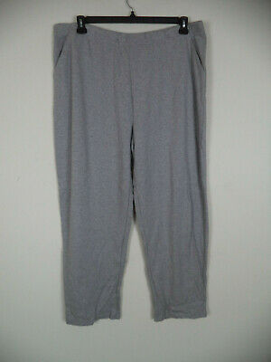 Women's Gray Basic Editions Pull On Sweatpants. Size 2X. 100% Cotton. Loose
