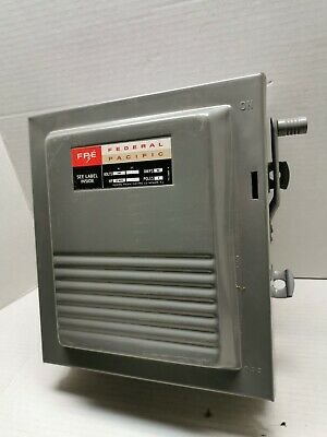 FEDERAL PACIFIC PANEL COVER l 60 AMP HOME HOUSE BREAKER BOX