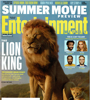 Entertainment Weekly Magazine May 3/10 2019 The Lion King Beyonce Summer Movies