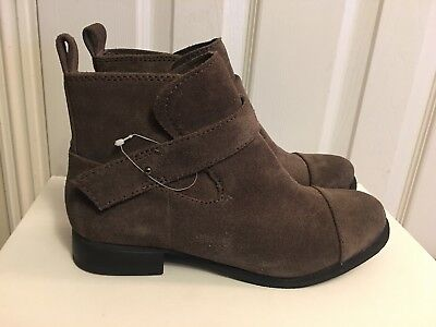 Clarks Womens Leather boots Taupe Grey Padded CABARET ROCK Ankle boots Pull On