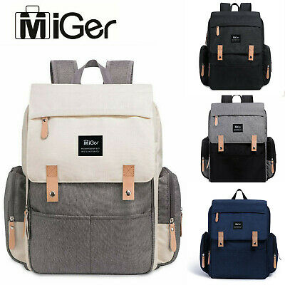 Miger Mummy Diaper Bags Baby Nappy Backpack Large Capacity Maternity Nursing US