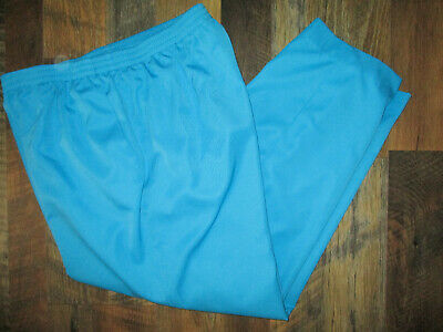 Alfred Dunner Pants Teal Blue Women's 18 Petite 100% Polyester Elastic Waistband