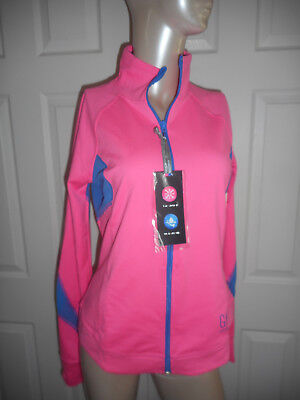NWT GH SPORT Gilly Hicks Juniors L Pink Full Zip Polyester 360 Stretch Jacket