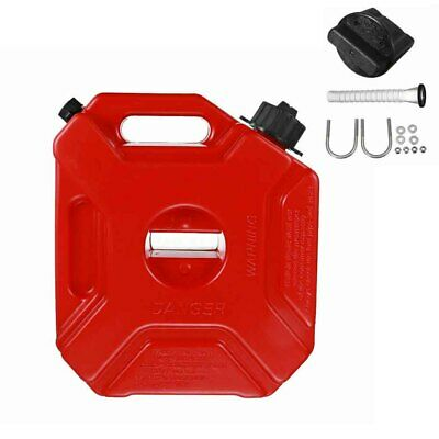 5L Car Anti Static Jerry Can Backup Plastic With Mount Portable Red Fuel Tank