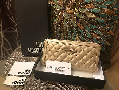 LOVE MOSCHINO AUTHENTIC EMPTY Black Wallet Gift Box EUR 8