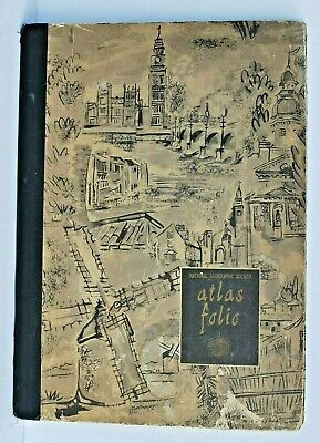 Vintage 1951 National Geographic Society Atlas Folio 56 Maps Hard Cover Cert.