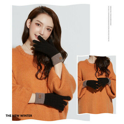 Women's Cashmere Knitted Winter Gloves Cashmere Touch Screen Skiing Gloves