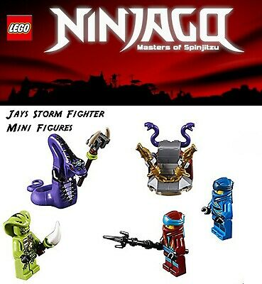 Lego Ninjago 70668 Jays Storm Fighter mini figs only! Jay Nya Pythor Lasha