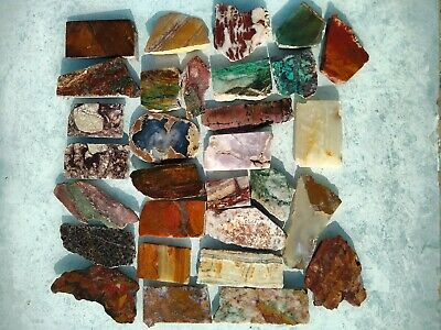 Polished mixed SLAB & ROCK LOT HANDPICKED LAPIDARY TUMBLE GEM  3.87 lbs