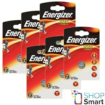 6 Energizer Cr1616 Lithium Battery 3V Cell Coin Button Dl1616 Exp 2026 New