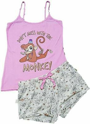 Primark Disney Alladin Monkey Cami Vest & Shorts Pyjama Pajama Pj Set for Ladies