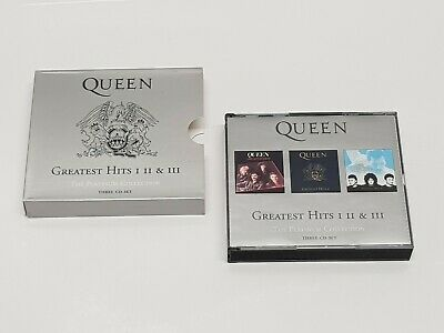 'Queen - Greatest Hits 1,2 & 3' The Platinum Collection (CD, 3 disc boxset) Rare