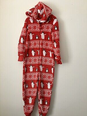 Bluezoo 5-6 Yrs Hooded Christmas All In One Pyjamas 😍😍