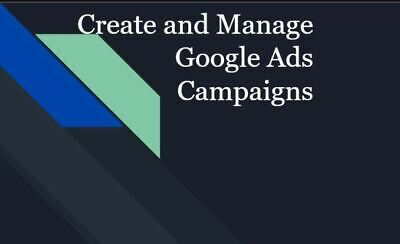 Set Up Google Ads Adwords Campaigns I Will Manage Your Account New Offer
