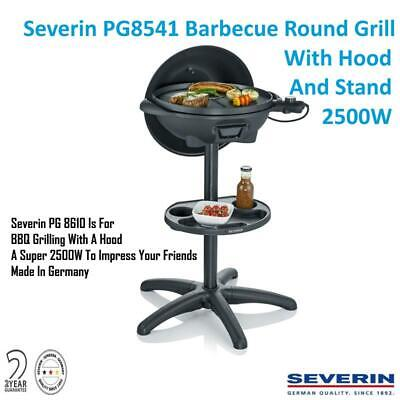 Severin PG8541 Barbecue Round Grill With Hood And Stand 2500W Grill BBQ STEAK