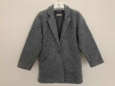 Girls NEXT Age 5 Years Grey Duster Coat Unlined Knee Length 23""