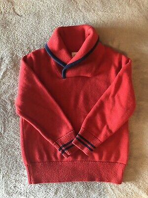 Baby Gap boys sweater SIZE 4T red/ navy blue