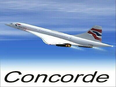 Concorde, Retro replica style metal tin sign gift Shed Garage
