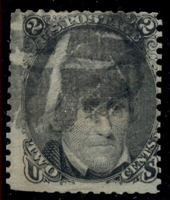 """US #85B, 2¢ black, """"Z"""" Grill, used with a few perf faults, scarce, Miller cert"""