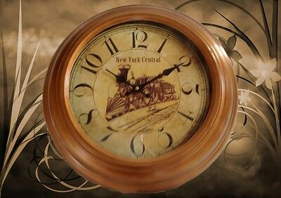 Wall Clock New York Central round D=43 x H=5 Vintage Aesthetics Rarity Ein