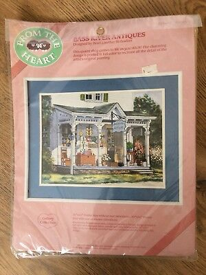 Sealed VTG From The Heart Bass River Antiques Embroidery Set Dimensions 51019