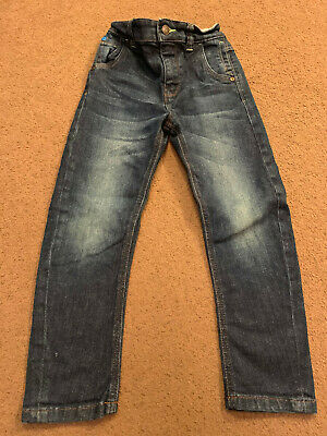 Next Carrot Dark Blue Jeans - Size 6 years