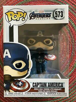 Funko Pop Avengers Captain America with Mjolnir and Broken Shield 573