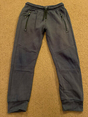 Next Authentic Navy Blue Jogging bottoms / sweatpants - Size 7 years  -