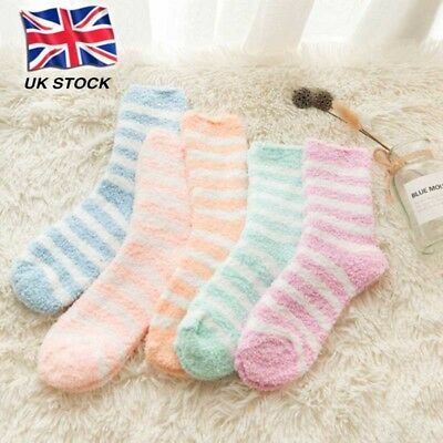 1/6Pairs Ladies Women Winter Warm Fluffy Bed Socks Lounge Slipper Sock lskn