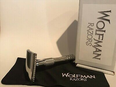 Wolfman Razor WR1 .54mm SB Brushed Satin Stainless Steel on WRH7 Handle