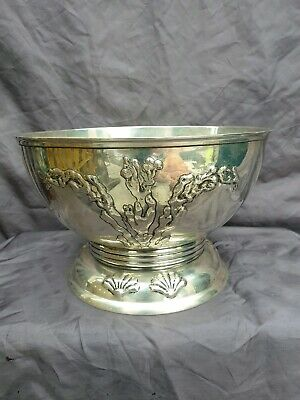 Antique Swedish C G H (CG Hallberg) 1935 Silver Bowl , seaweed,  shell.
