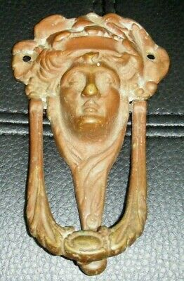 Vintage Greek God Brass Door Knocker