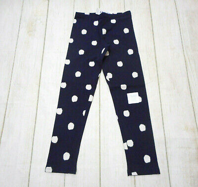 Old Navy Girls Size Medium (8) Navy Off White Dot Leggings New With Tags