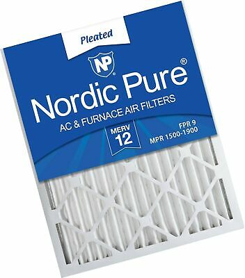 Nordic Pure 16x24x2 MERV 12 Pleated AC Furnace Air Filters 3 Pack, 3 PACK, 3 ...