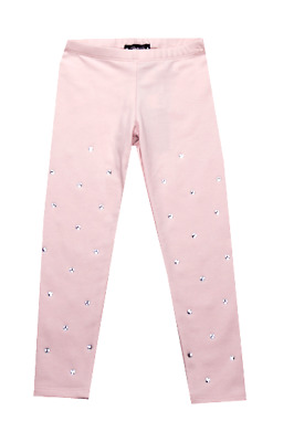 Kate Mack Girls Size 10 Pink Sparkle Silver Sequin Leggings Nwt Htf