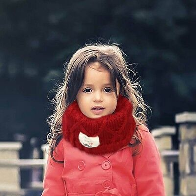 Kids Winter Warm Scarf Knitted Snood Shawl Ring Neck Wraps Scarves Hot lskn